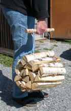 Easy to handle firewood bundle