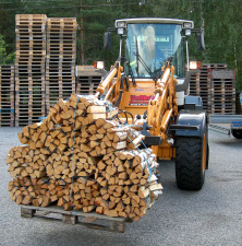 Firewood bundles on pallet 2